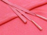 絹紡平組の帯締めとちりめん生地の帯揚げセット 正絹【コーラルピンク】
