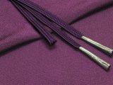 絹紡平組の帯締めとちりめん生地の帯揚げセット 正絹【茄子紺】