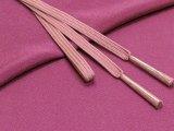 絹紡平組の帯締めとちりめん生地の帯揚げセット 正絹【赤紫】