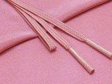 絹紡平組の帯締めとちりめん生地の帯揚げセット 正絹【灰赤紫】