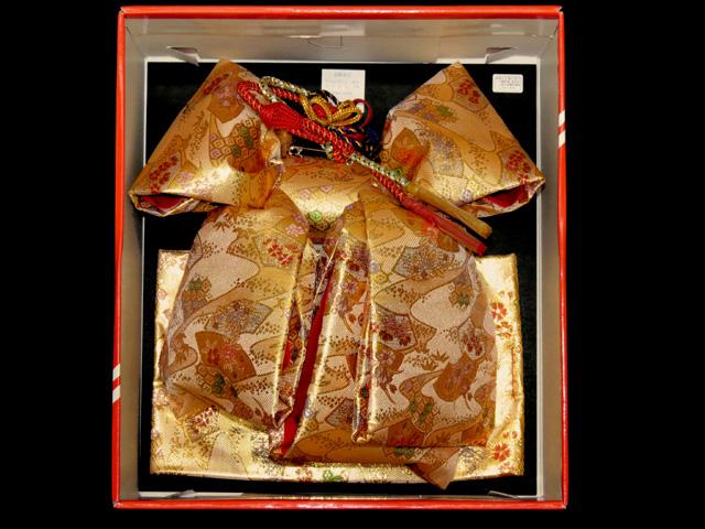 画像2: 七五三 7歳女の子用 金襴 結び帯(大寸)と箱セコペアセット【金】