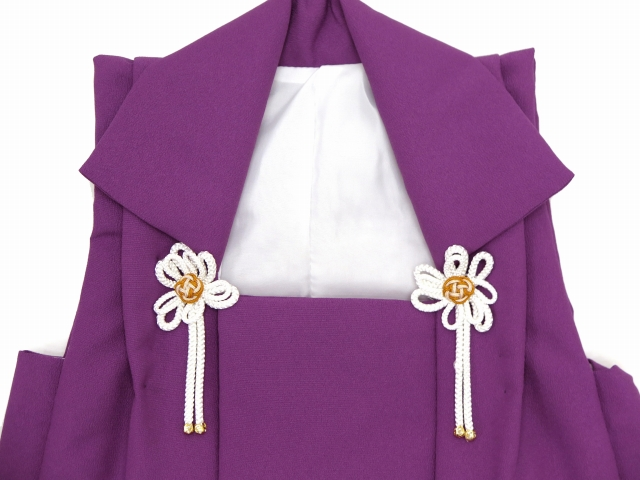 画像3: 被布コート 単品 七五三 3歳男の子用 刺繍入り被布コート(合繊)【紫 兜】