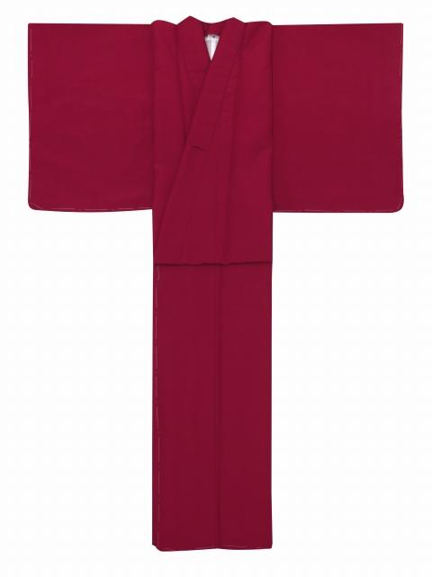 画像2: 卒業式の袴セット シンプルな色無地(上質縮緬)の着物【牡丹色】と無地袴【黒】のセット