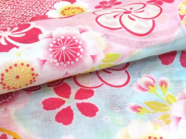 画像5: こども浴衣 式部浪漫ブランド 女の子浴衣 110cm【ピンク、鞠】