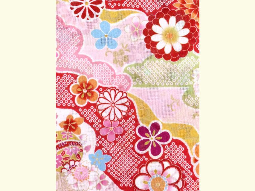 画像4: こども浴衣 式部浪漫ブランド 女の子浴衣 110cm【ピンク、古典柄 雅】