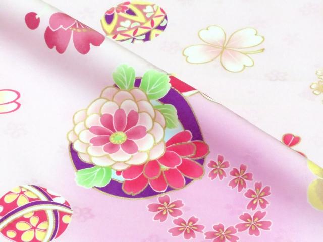 画像3: 卒園式・入学式 七五三に 式部浪漫ブランドのこども袴セット 女の子用 四つ身の着物(合繊)【ピンク 梅に花輪】と刺繍袴「エンジ」のセット