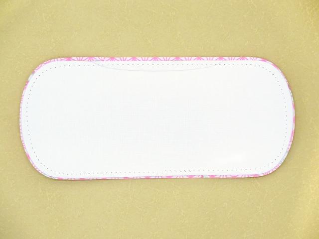 画像2: 子供着物用 和装小物 帯板(前板)【桃、わらべ】