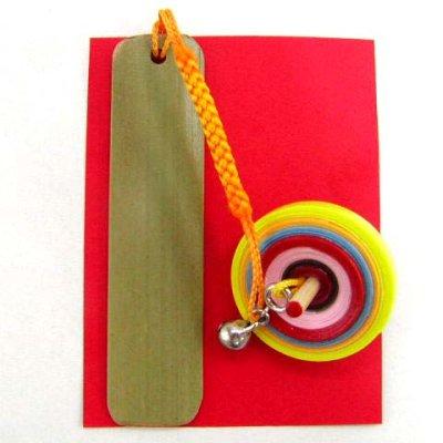 画像1: 匠の手作り・京こまの帯飾り