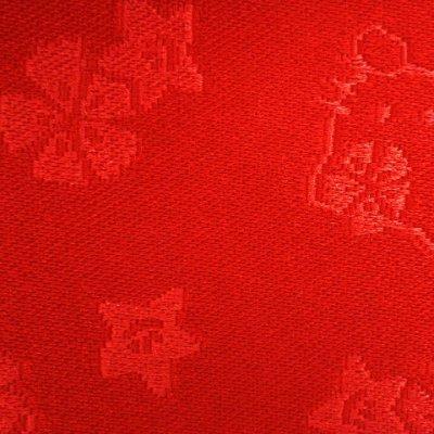 """画像4: 子供浴衣帯 """"ハローキティー""""の女の子用作り帯(結び帯)【赤】"""