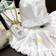 画像3: お宮参りのお祝い着 男の子用 刺繍入り涎掛け・フード 4点セット(化繊)【白 鶴】