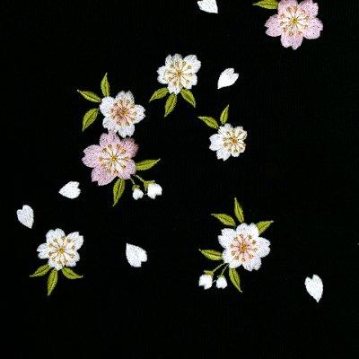 画像2: 卒業式に 女性用 桜刺繍入り袴【黒】 サイズ[S M L LL]