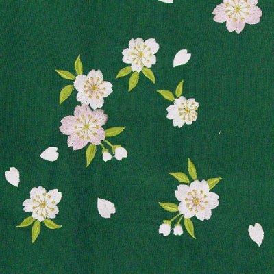 画像2: 卒業式に 女性用 桜刺繍入り袴【緑系】 サイズ[S M L LL]