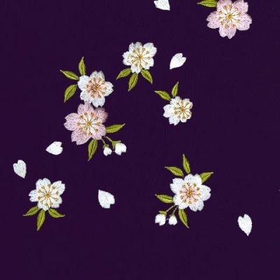 画像2: 卒業式に 女性用 桜刺繍入り袴【紫】 サイズ[S M L LL]