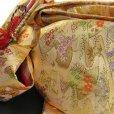画像6: 七五三 着物 7歳女の子用 フルセット 正絹 日本製 絵羽柄の子供着物 結び帯セット【薄黄緑 梅に鈴】