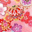 画像3: 七五三 着物 7歳女の子用 フルセット 正絹 日本製 絵羽柄の子供着物 結び帯セット【ピンク系 二つ鞠】