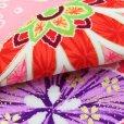 画像4: 七五三 着物 7歳女の子用 フルセット 正絹 日本製 絵羽柄の子供着物 結び帯セット【ピンク系 二つ鞠】