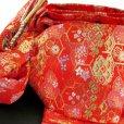 画像6: 七五三 着物 7歳女の子用 フルセット 正絹 日本製 絵羽柄の子供着物 結び帯セット【ピンク系 二つ鞠】