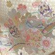 画像10: 七五三 7歳 女の子 大寸 結び帯 はこせこセット ペアセット(合繊)【白金系、鞠】