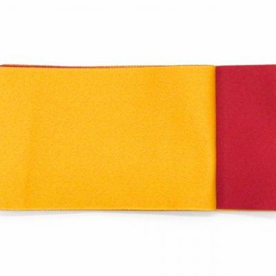 画像2: 子供袴下帯 女の子用の無地リバーシブル帯 平帯【赤&黄】