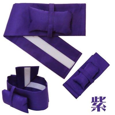 画像2: 女の子袴用 簡単!ワンタッチ袴下帯(帯枕付き)【紫】