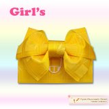 子供浴衣帯 女の子用作り帯(結び帯)【黄色、トンボ】
