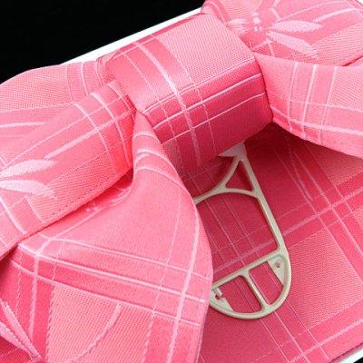 画像3: 子供浴衣帯 女の子用作り帯(結び帯)【ピンク、トンボ】