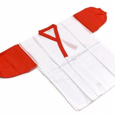画像2: 日本製 子供着物用 二部式肌着(7歳用)  お子様肌着セット【紅白】