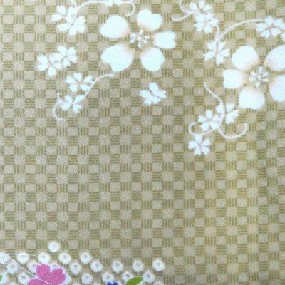 画像2: 洗える着物 小紋 袷 レディース 仕立て上がり Mサイズ【緑系 花柄】
