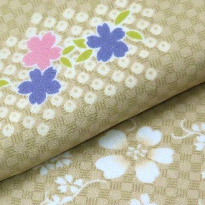 画像3: 洗える着物 小紋 袷 レディース 仕立て上がり Mサイズ【緑系 花柄】