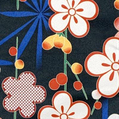 画像2: 洗える着物 袷 小紋 hiromichi nakano(ナカノ ヒロミチ) Mサイズ 単品【黒地、桜と麻の葉】