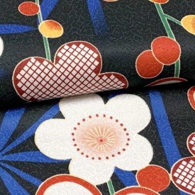 画像3: 洗える着物 袷 小紋 hiromichi nakano(ナカノ ヒロミチ) Mサイズ 単品【黒地、桜と麻の葉】