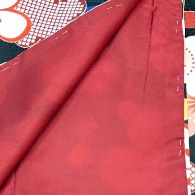 画像4: 洗える着物 袷 小紋 hiromichi nakano(ナカノ ヒロミチ) Mサイズ 単品【黒地、桜と麻の葉】