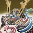 画像3: 産着 お宮参りの着物 日本製 男の子のお祝い着(初着) 正絹【モスグリーン 兜】