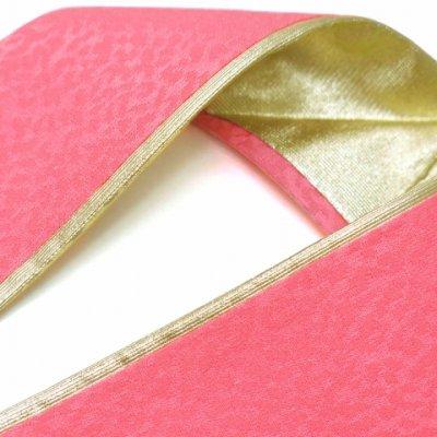 画像2: 重ね衿 リバーシブル 4wayタイプの重ね衿 伊達衿(正絹)【桃色】