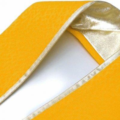 画像2: 重ね衿 リバーシブル 4wayタイプの重ね衿 伊達衿(正絹)【黄色】