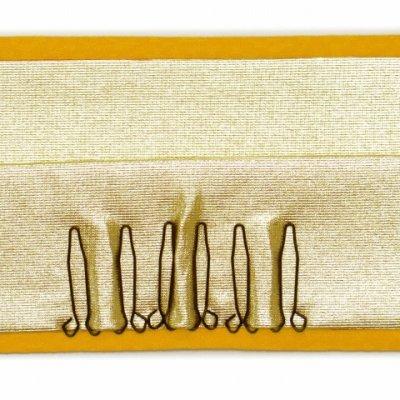 画像4: 重ね衿 リバーシブル 4wayタイプの重ね衿 伊達衿(正絹)【黄色】
