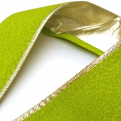 画像2: 重ね衿 リバーシブル 4wayタイプの重ね衿 伊達衿(正絹)【抹茶】