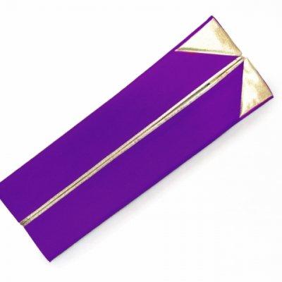 画像3: 重ね衿 リバーシブル 4wayタイプの重ね衿 伊達衿(正絹)【紫】