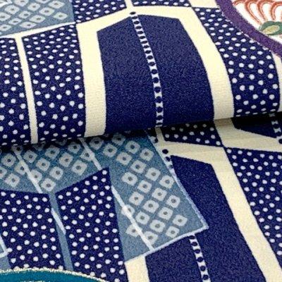 画像4: お正月や初節句に 男の子 赤ちゃん用 ベビー羽織と着物セット【紺地、矢羽】
