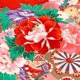 画像5: お宮参り 着物 女の子 赤ちゃんのお祝い着 産着 初着 正絹【赤、花車とオシドリ】