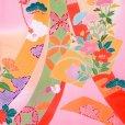 画像4: 産着 お宮参りの着物 日本製 日本製 女の子のお祝い着(初着) 正絹【ピンク 花車に束ね熨斗】