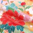 画像5: 産着 お宮参りの着物 日本製 日本製 女の子のお祝い着(初着) 正絹【ピンク 花車に束ね熨斗】