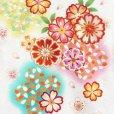 画像3: 産着 お宮参りの着物 日本製 女の子のお祝い着(初着) 正絹【白地 菊と桜】