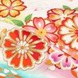 画像5: 産着 お宮参りの着物 日本製 女の子のお祝い着(初着) 正絹【白地 菊と桜】