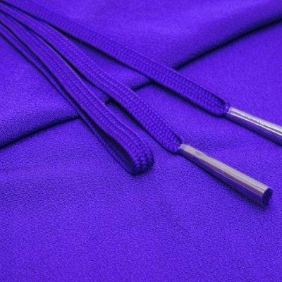 画像1: 絹紡平組の帯締めとちりめん生地の帯揚げセット 正絹【青紫】