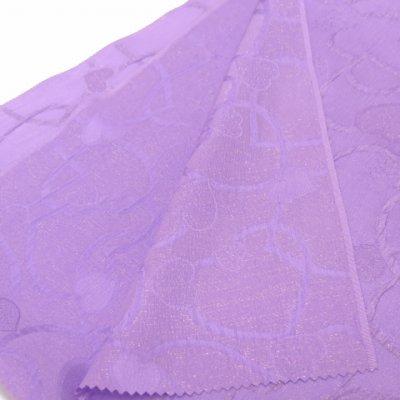 画像3: <セール!>子供浴衣に 正絹 オリジナル 女の子用兵児帯(へこ帯)【薄紫、ハート】