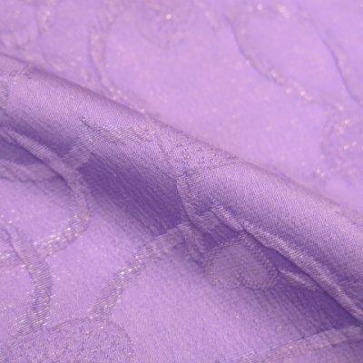 画像4: <セール!>子供浴衣に 正絹 オリジナル 女の子用兵児帯(へこ帯)【薄紫、ハート】