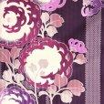"""画像4: """"HL(アッシュ・エル)"""" ブランド 振袖(単品) レディース 小紋柄 成人式の着物 お正月の晴れ着に【紫系、ぼたん菊】"""