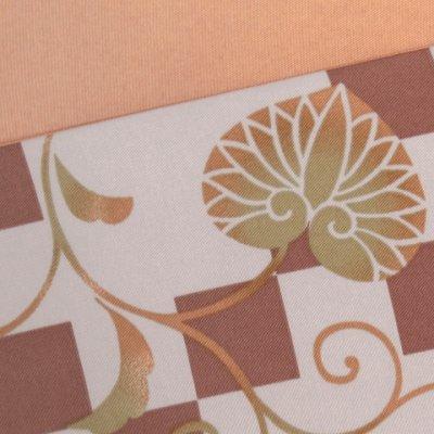 画像3: 半幅帯 H・L(アッシュ・エル)ブランド 長尺 420cm リバーシブル 半巾帯 合繊【茶系、市松に葵】