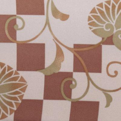 画像4: 半幅帯 H・L(アッシュ・エル)ブランド 長尺 420cm リバーシブル 半巾帯 合繊【茶系、市松に葵】